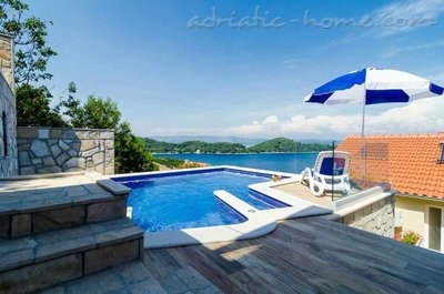 Apartamentos Adriatic-house with seaview pool, Mljet, Croácia - foto 2