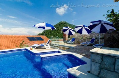 Apartamentos Adriatic-house with seaview pool, Mljet, Croácia - foto 1