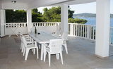 Apartments Villa Viktorija & Gabrijel A7+1 directly at sea, private beach, 4  boat landings, Primošten, Croatia